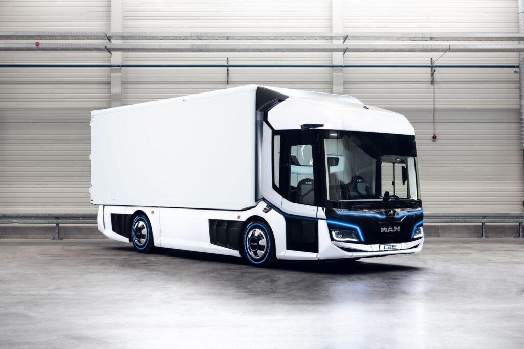 De MAN CitE is een volledig elektrische concept-distributievrachtwagen